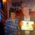 Larry Ryan receiving Certificate of Appreciation for service to NYSUT